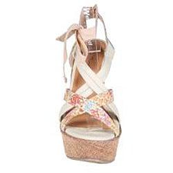 Refresh by Beston Women's 'JUDITH-01' Wedge Sandals