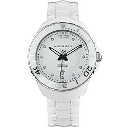 Android Women's Exotic White Ceramic Watch