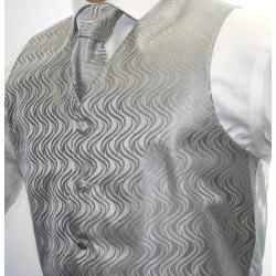 Ferrecci Men's Two-tone Grey 4-piece Vest Set - Thumbnail 1