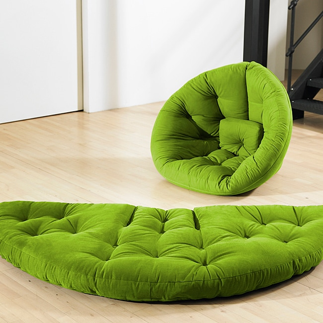 Shop Lime Green Fresh Futon Nest Free Shipping Today
