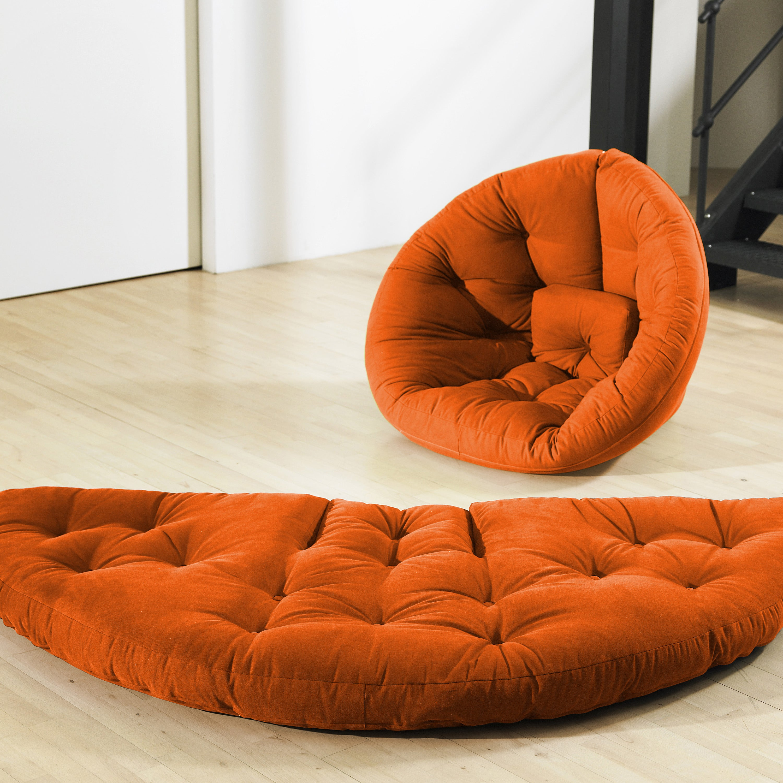 Orange Fresh Futon Nest