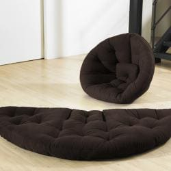 Chocolate Brown Fresh Futon Nido
