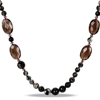 Miadora Multi-colored Gemstone 50-inch Endless Fine Necklace