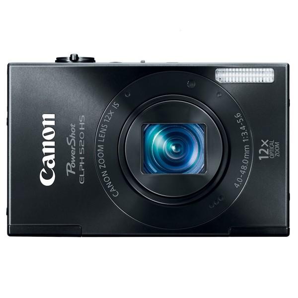 Canon PowerShot ELPH 520HS 10.1MP Black Digital Camera