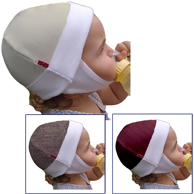 Dots On Tots Merino Wool and Organic Cotton Child Ear Flap Hat
