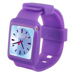 INSTEN Purple Soft Silicone Watchband Skin iPod Case Cover for Apple iPod Nano 6th Generation
