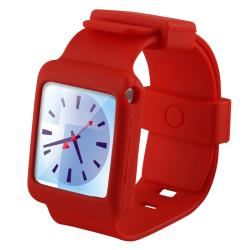 Red Silicone Watchband Skin Case for Apple iPod Nano 6th Generation