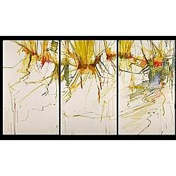'Colourful Seasons' Hand-painted 3-piece Canvas Art Set