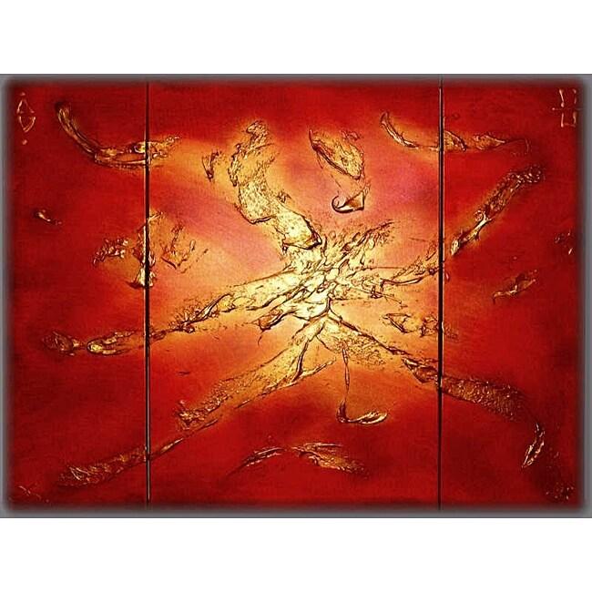 'Sport' Hand-painted 3-piece Canvas Art Set