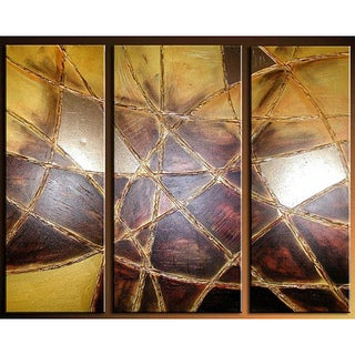 'Ruleless' Hand-painted 3-piece Canvas Art Set