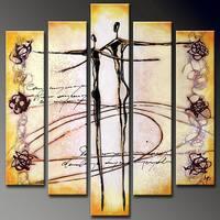 'Dancer' Hand-painted 5-piece Canvas Art Set