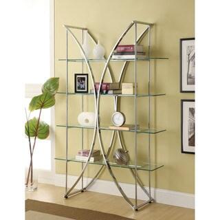 Coaster Company Chrome Etagere with Tempered Glass Shelves