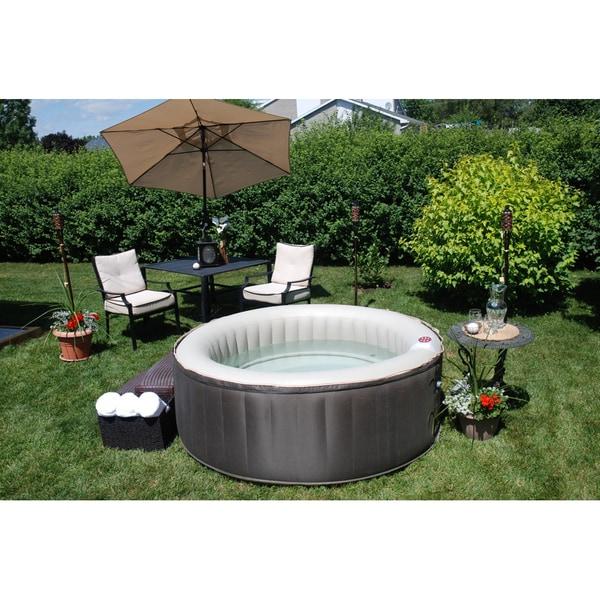 Portable Hot Tub : Theraspa person inflatable portable hot tub spa free