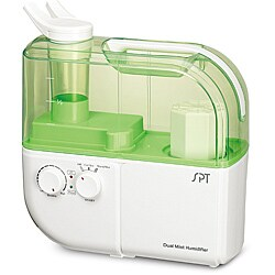 Dual Mist Humidifier with ION Exchange Filter in Green