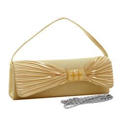 Dasein Satin Glitter Accent Clutch Handbag - Thumbnail 1