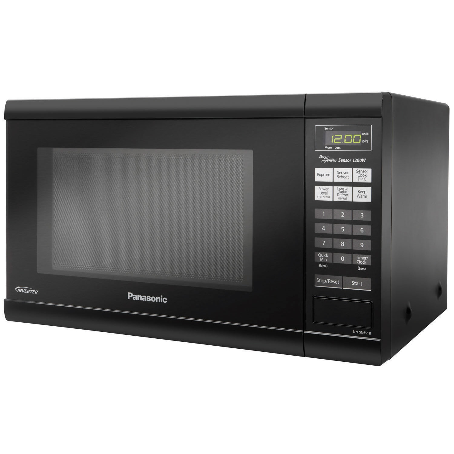 Panasonic NN-SN651B Countertop Microwave Oven with Inverter Technology (Black)
