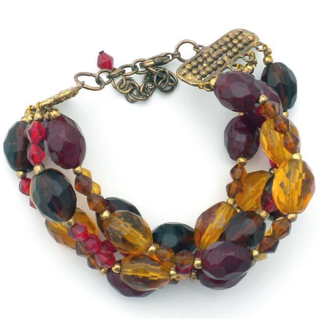 Glass Indian Amber Jewel Bracelet (India)