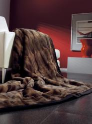 IBENA Espresso Faux Fur Throw - Thumbnail 1