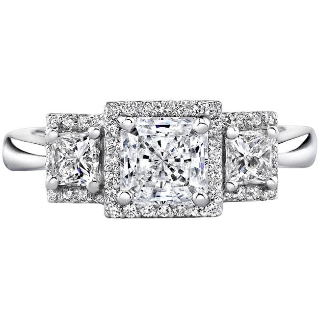 14k Gold 3/4ct TDW Designer Diamond and CZ Engagement Ring (H, SI1)