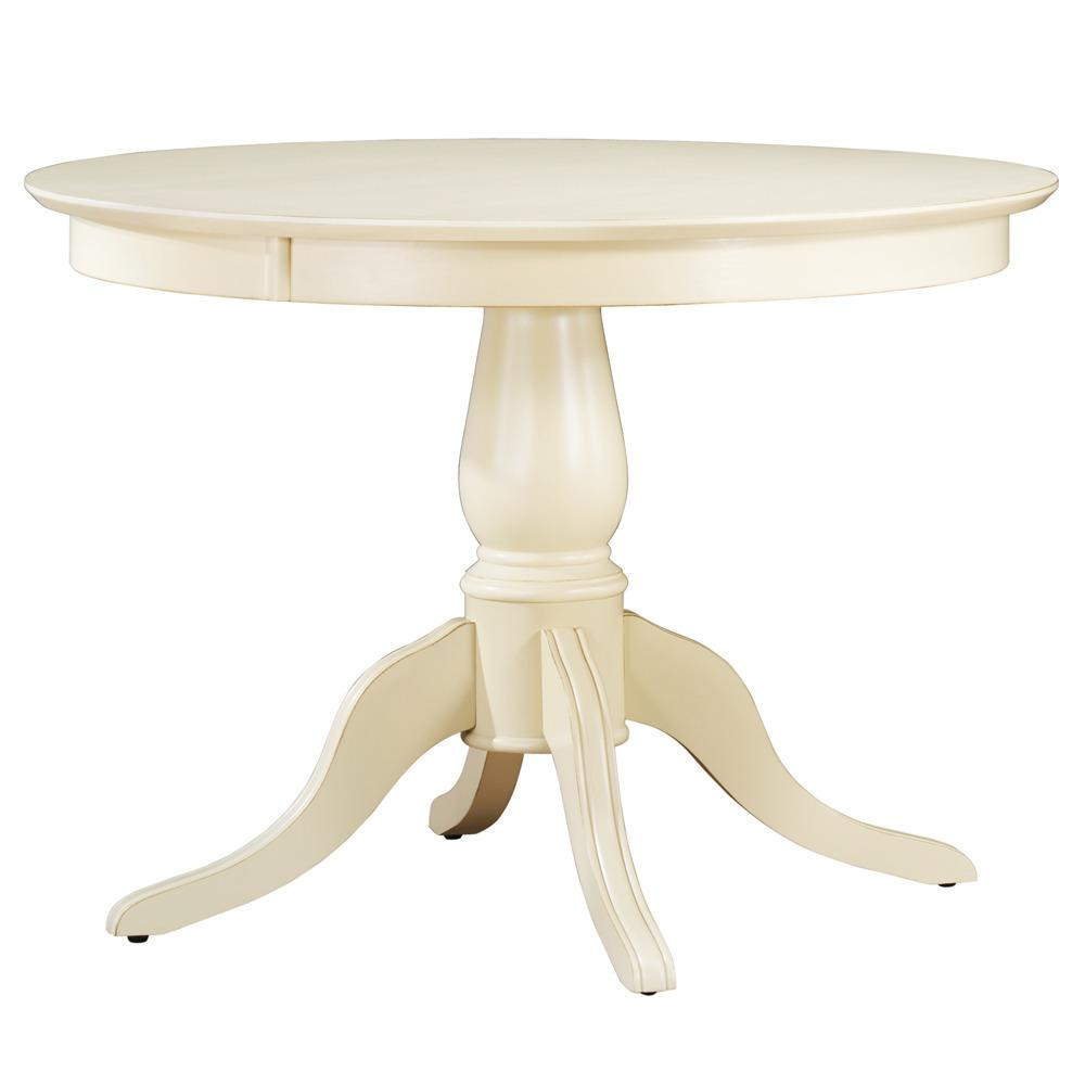 Calais antique white round dining table free shipping for Off white round table