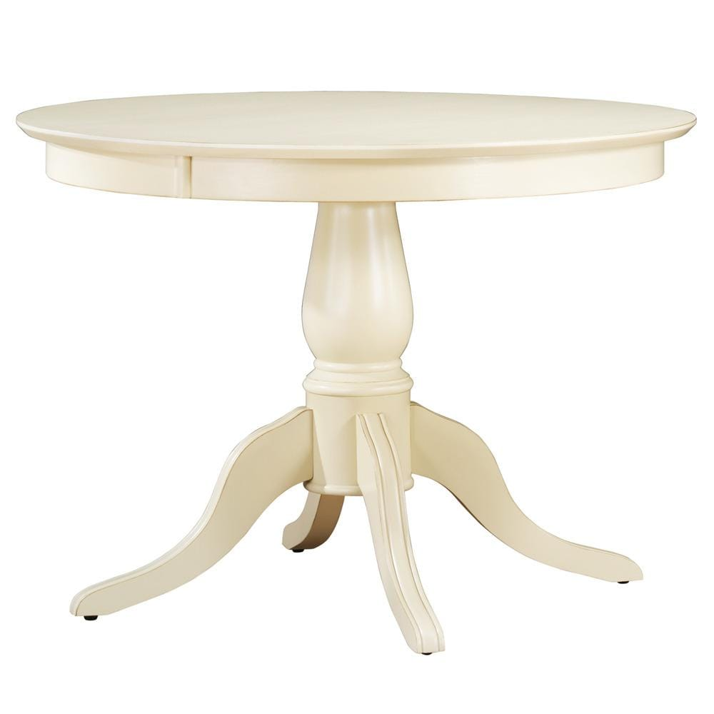 Calais Antique White Round Dining Table Free Shipping