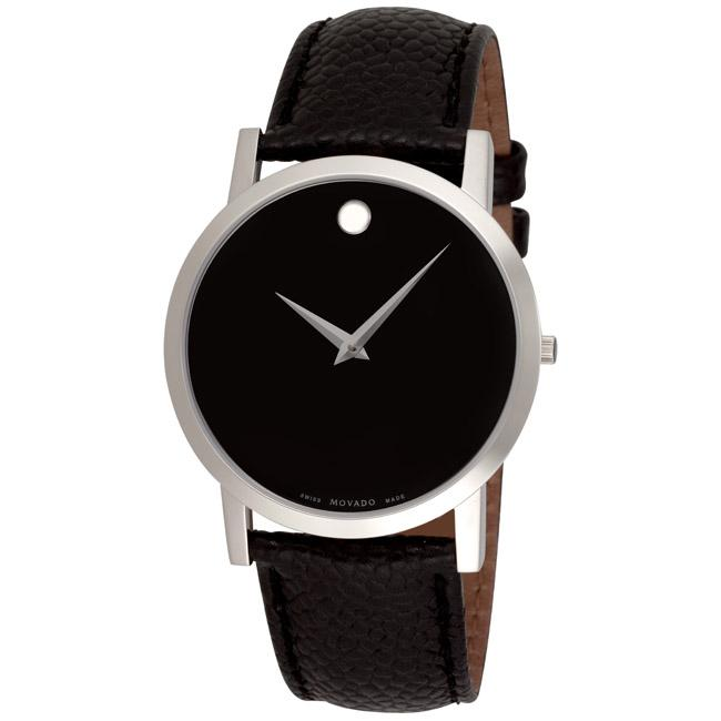 movado men s museum classic black leather strap watch movado men s museum classic black leather strap watch