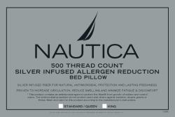 Nautica Allergen Reduction 500 Thread Count Bed Pillows (Set of 2) - Thumbnail 2