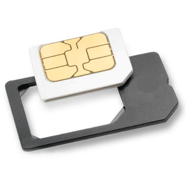 Luxmo Micro SIM Card Adapter with Cutting Label for iPhone 4