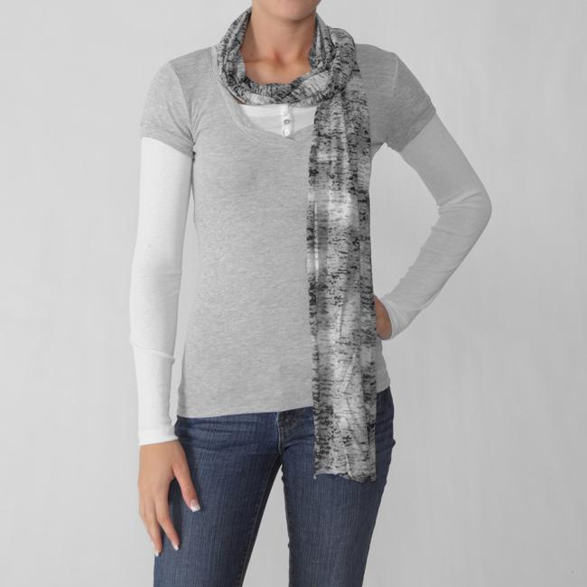 Love Always Junior's Gray Long-Sleeve Shirt/Scarf Set