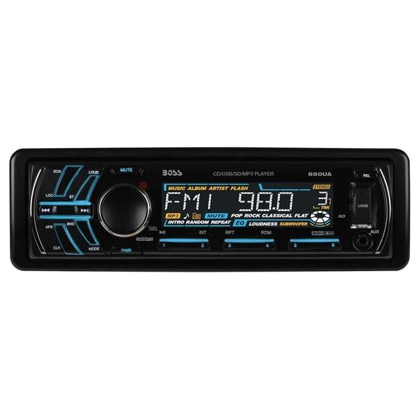 Boss Audio 650UA Single-DIN CD/MP3 Player Receiver, Detachable Front