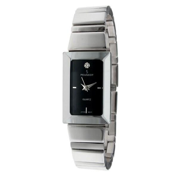 Peugeot Women's Black Dial Silvertone Bracelet Watch