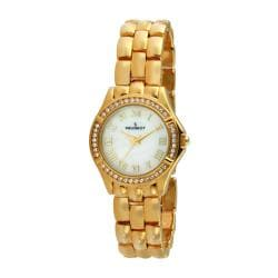 Peugeot Women's Crystal Bezel Goldtone Bracelet Watch