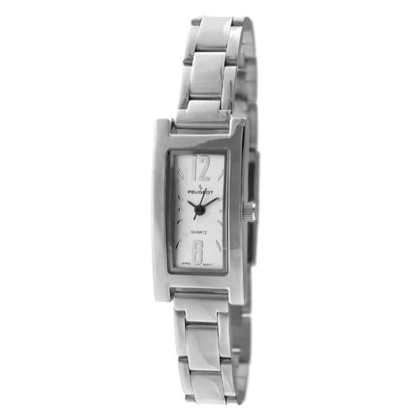Peugeot Women's Silvertone Rectangular Bracelet Watch