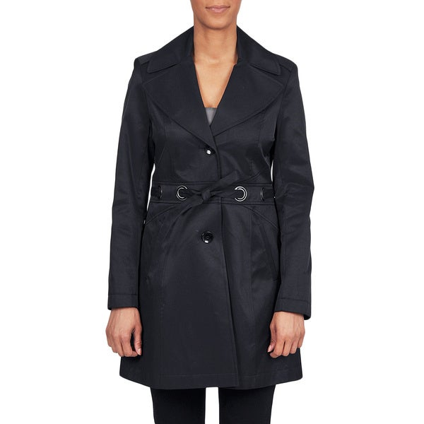 Via Spiga Women's Belted Water Resistant Trench Coat