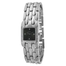 Peugeot Women's Crystal Adjustable Silvertone Bracelet Watch