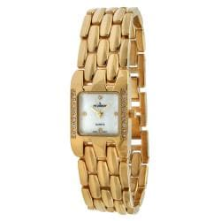 Peugeot Women's Crystal Goldtone Bracelet Watch