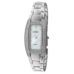 Peugeot Women's '7013S' Silvertone Crystal Watch