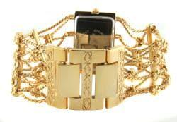 Peugeot Women's Goldtone Crystal Watch