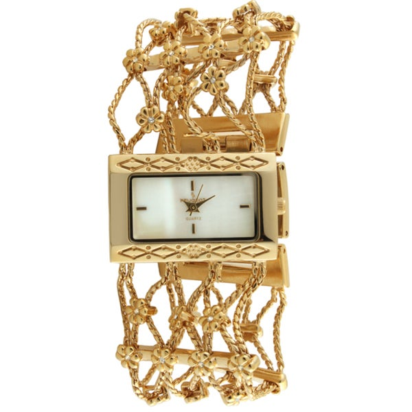 Peugeot Women's Goldtone Crystal Watch