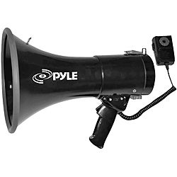 Pyle 50 Watts Professional Piezo Dynamic Megaphone W/3.5mm Aux-In For Music/iPod