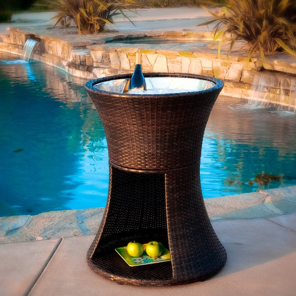 Apollo Brown Wicker Beverage Caddy by Christopher Knight Home