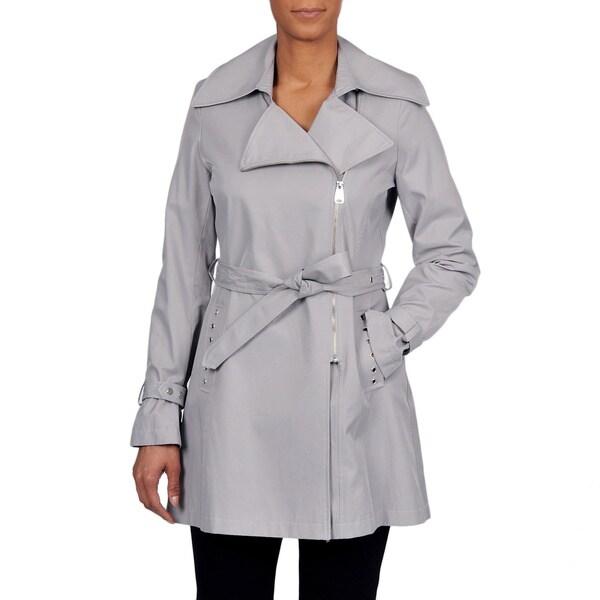 Via Spiga Women's Asymmetrical Belted Trench Coat