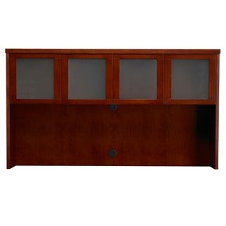"Mayline Mira 70""W Hutch Cabinet with 4 Glass Doors"