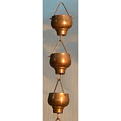 Hibiki Cup Pure Copper Rain Chain 8.5 Feet