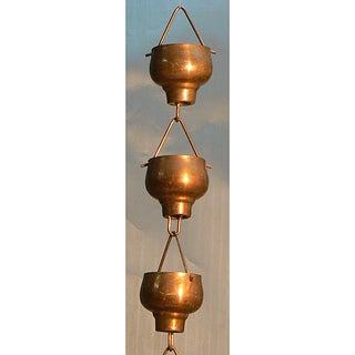 Monarch Pure Copper Hibiki Rain Chain 8.5-Foot Inclusive of Installation Hanger