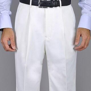 Men's White Single Pleat Pants (More options available)