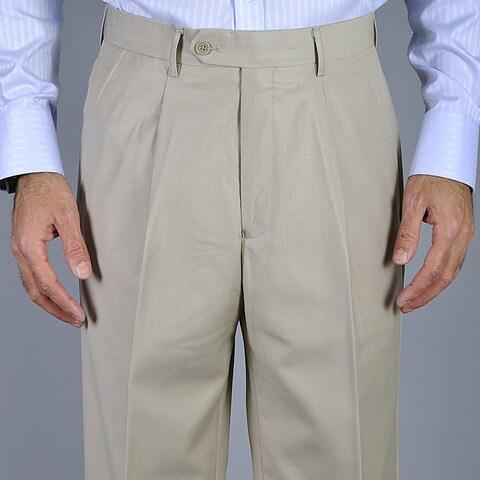 Men's Bone Single Pleat Pants