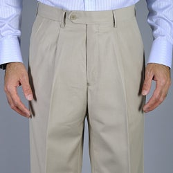 Men's Bone Single Pleat Pants