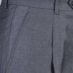 Men's Charcoal Single Pleat Pants - Thumbnail 1