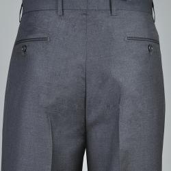 Men's Charcoal Single Pleat Pants - Thumbnail 2